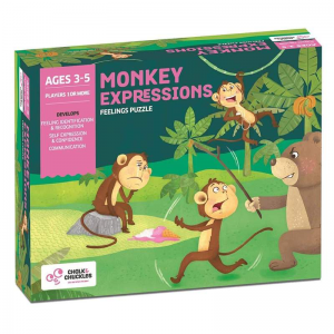 Monkey expressions Kids Board Game